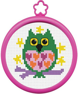 Bucilla - My 1st Stitch Owl Mini Cross Stitch Kit THUMBNAIL