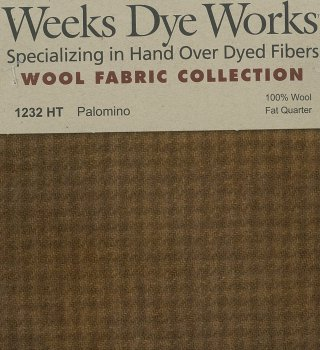 Weeks Dye Works Wool Fabric 1232 Palomino Houndstooth