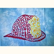White Willow Stitching - Tribal Fire Helmet_THUMBNAIL
