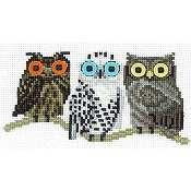 X's & Oh's - Button Eyed Owl