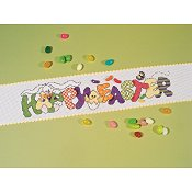 "Stitch Band - 16ct White w/ Yellow Trim - 3-1/8"" - 24"" Cut_THUMBNAIL"