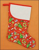Pre-finished Christmas Stocking - Red Dog/Cat Print