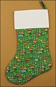 Pre-finished Christmas Stocking - Quilted Large Green Amy