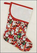 Pre-finished Christmas Stocking - Santa's Workshop Fabric
