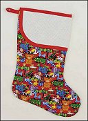 Pre-finished Christmas Stocking - Christmas Toys Fabric