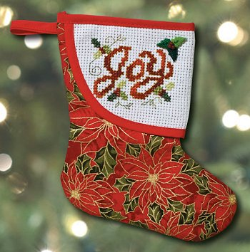 Mini Stocking - Red Poinsettia