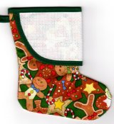 Mini Stocking - Gingerbread