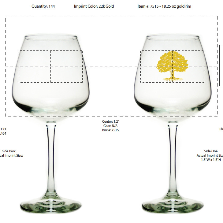 Schramm's Gold Tree Mead Glass THUMBNAIL