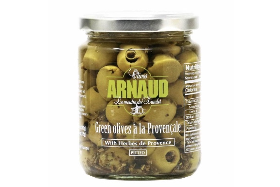 Arnaud Green Olives with Herbs de Provence THUMBNAIL