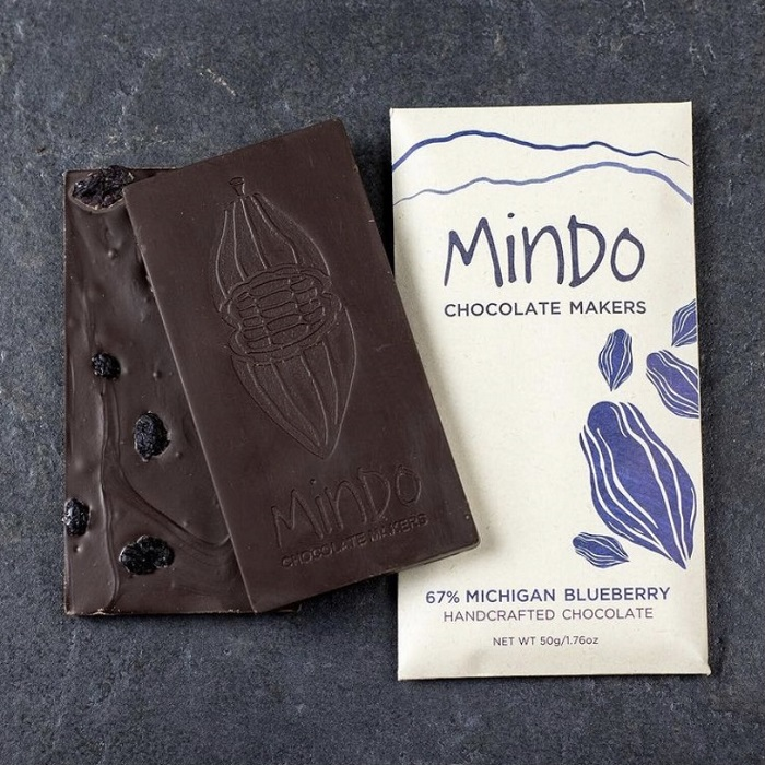 Michigan Blueberry Chocolate Bar THUMBNAIL