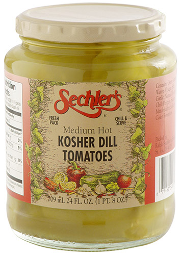 Medium Hot Kosher Dill Tomatoes
