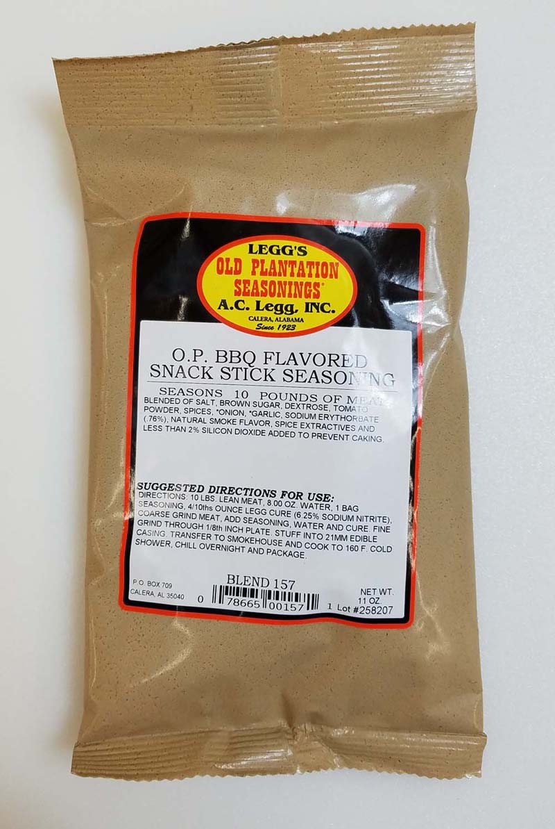 AC Leggs BBQ Snack Stick Seasoning