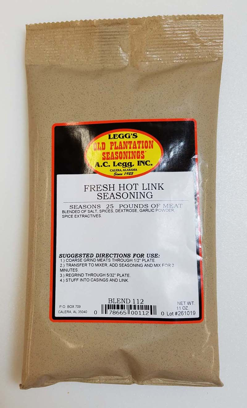 AC Leggs Fresh Hot Link Seasoning