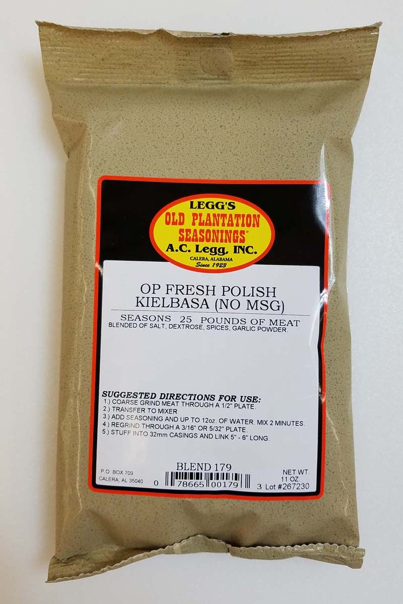 AC Leggs Fresh Polish Sausage Seasoning No MSG 179