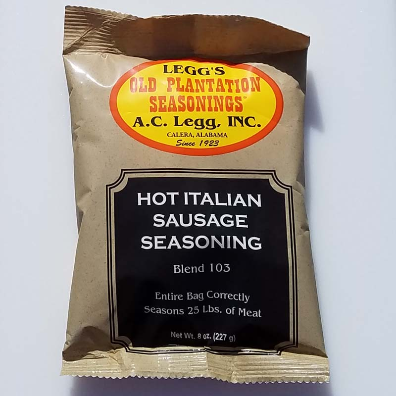 AC Leggs Hot Italian Sausage Seasoning Blend 103 8oz Case of 24