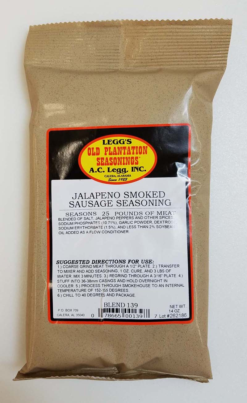 AC Leggs Jalapeno Smoked Sausage Seasoning LARGE
