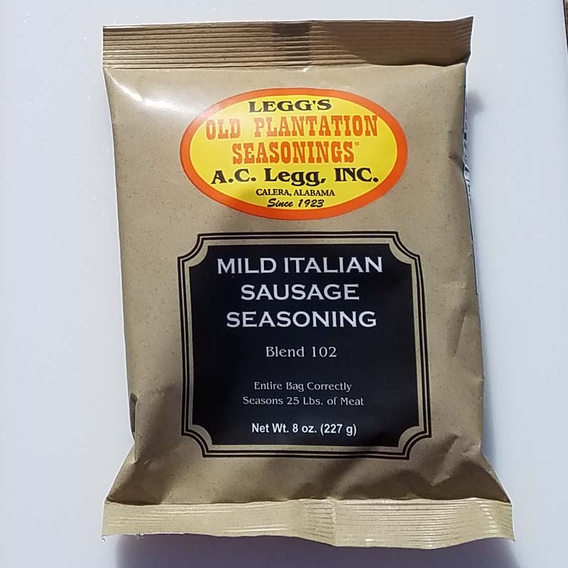 AC Leggs Old Plantation Mild Italian Sausage Seasoning LARGE