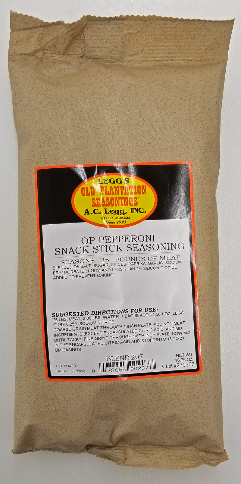 AC Leggs OP Pepperoni Snack Stick Seasoning