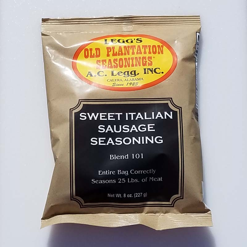 AC Leggs Sweet Italian Sausage Seasoning Blend 101 Case of 24