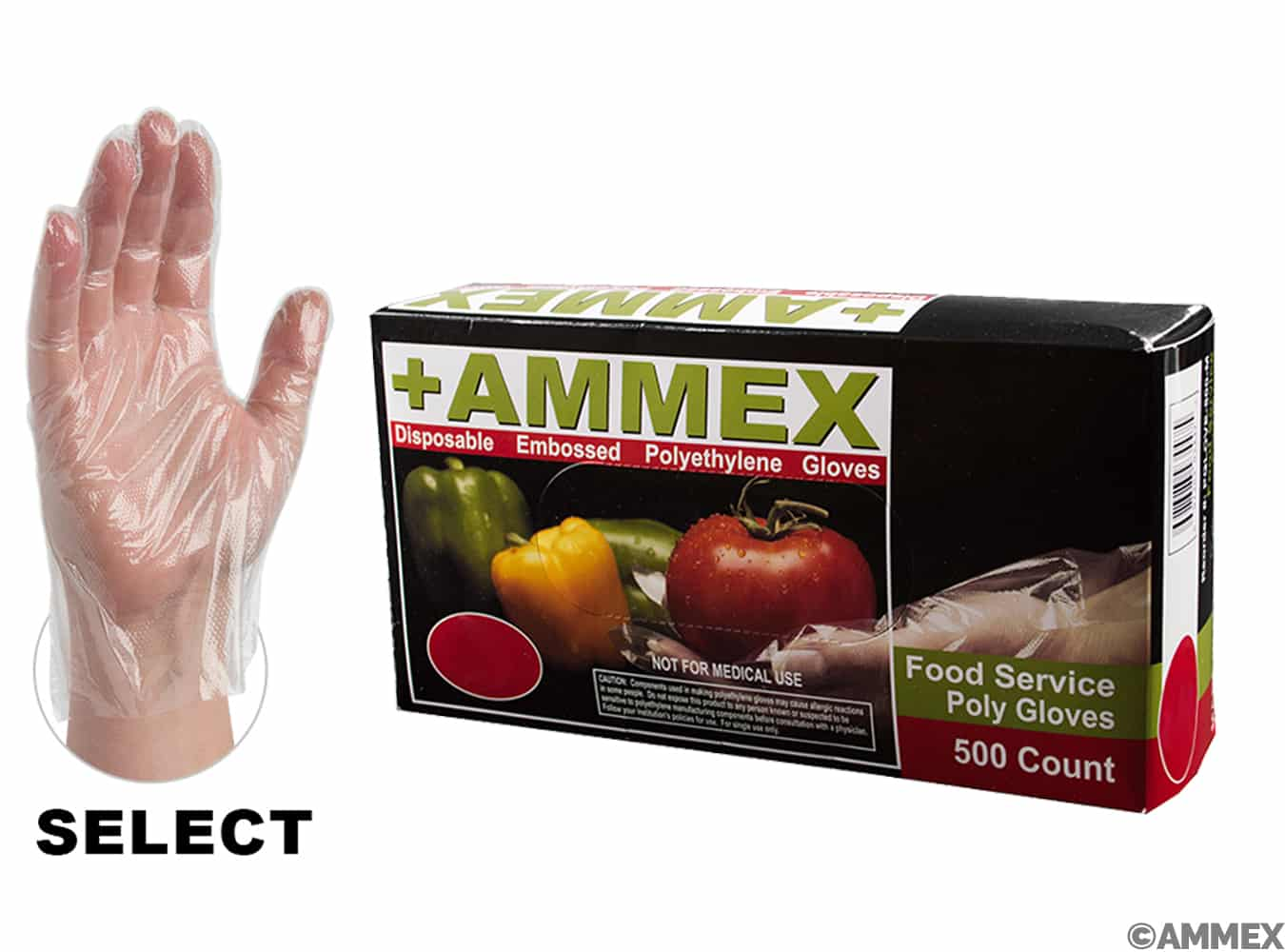 AMMEX Poly Food Service Glove-Small_THUMBNAIL