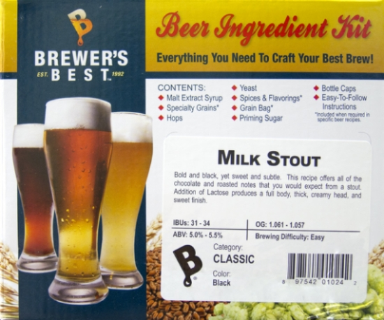 Brewer's Best Milk Stout Ingredient Kit