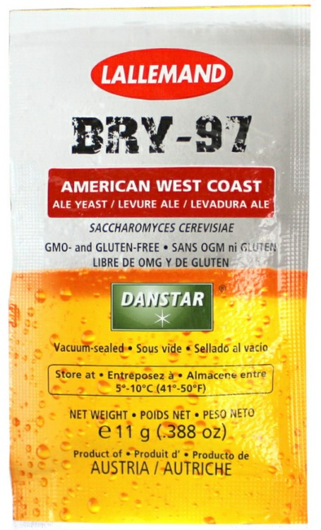 Lallemand Bry-97 West Coast Dry Ale Yeast 11 Grams LARGE