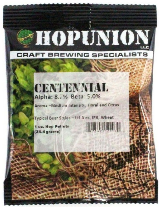 US Centennial Hop Pellets 1oz LARGE