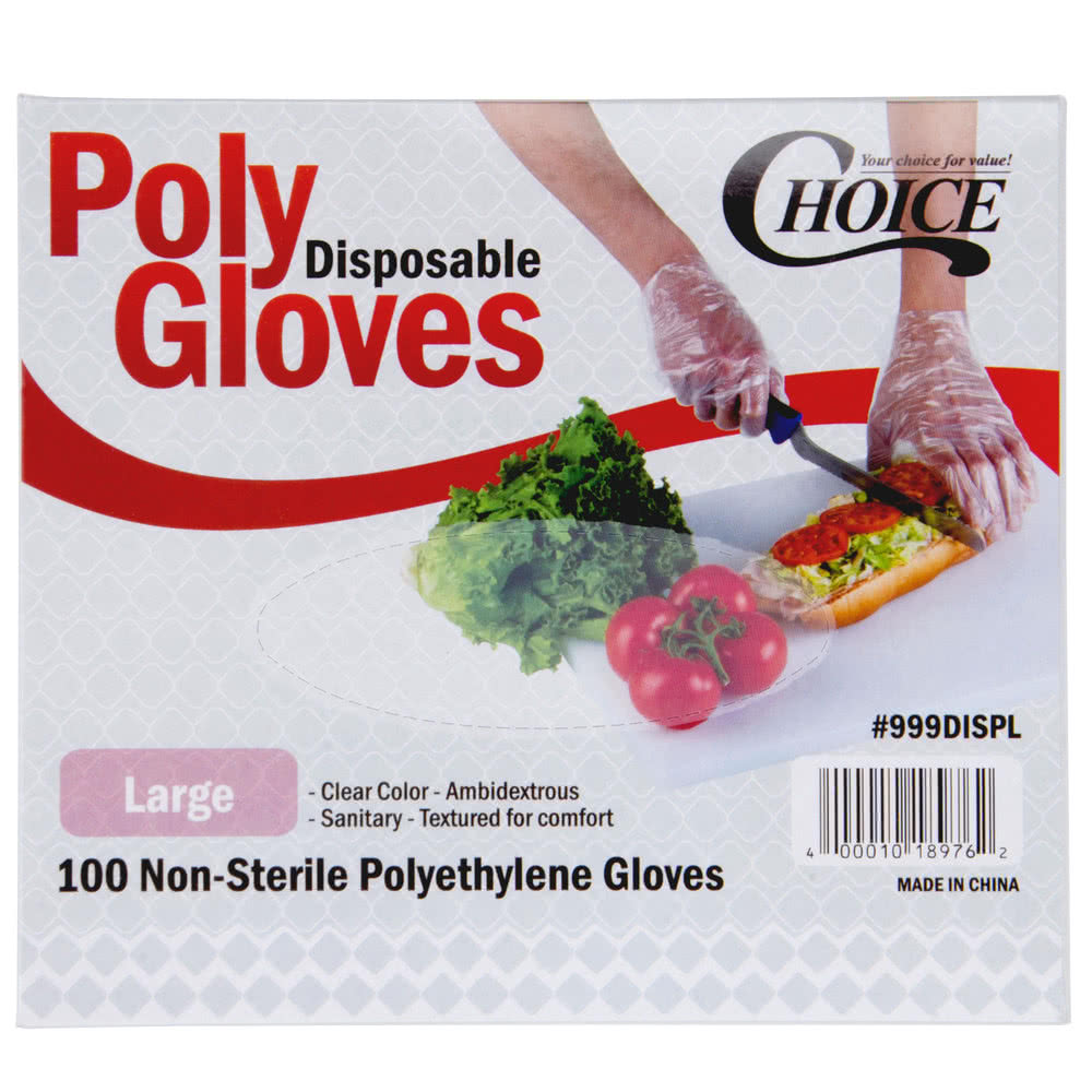 Choice Disposable Food Service Gloves Large 1000 Count Box_THUMBNAIL
