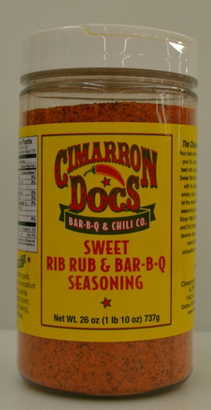 Cimarron Docs Sweet Rib Rub & BBQ Seasoning 26oz