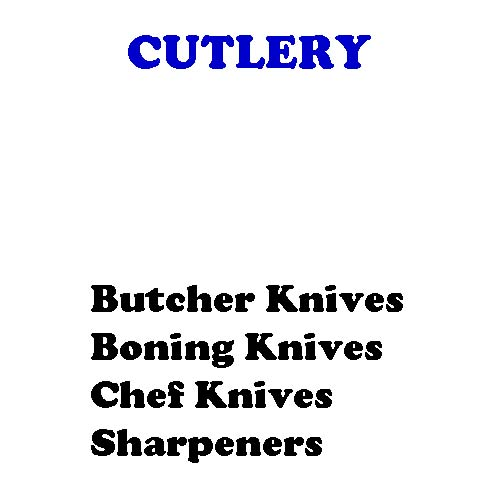 Butcher's Tools