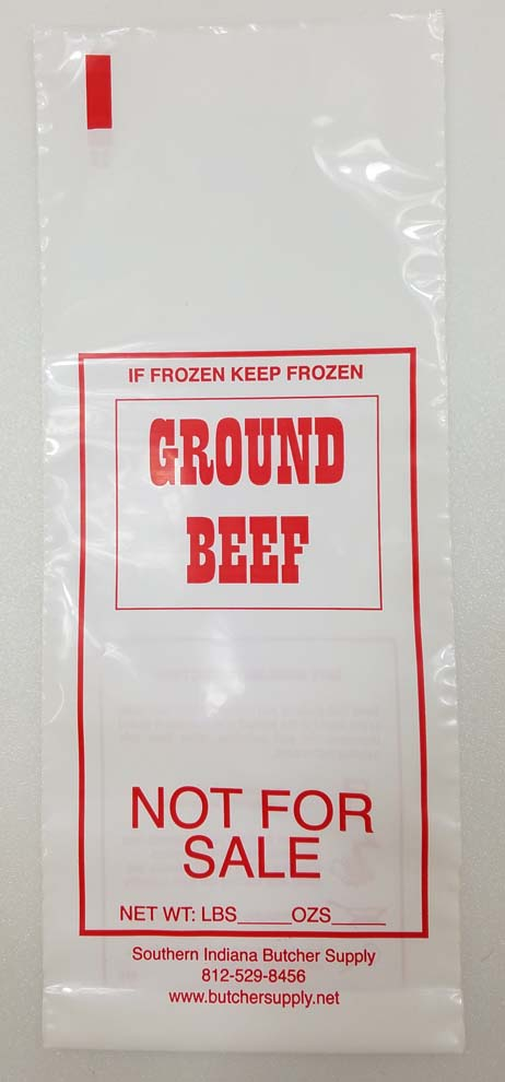"Ground Beef Bag Printed ""Not for Sale"""
