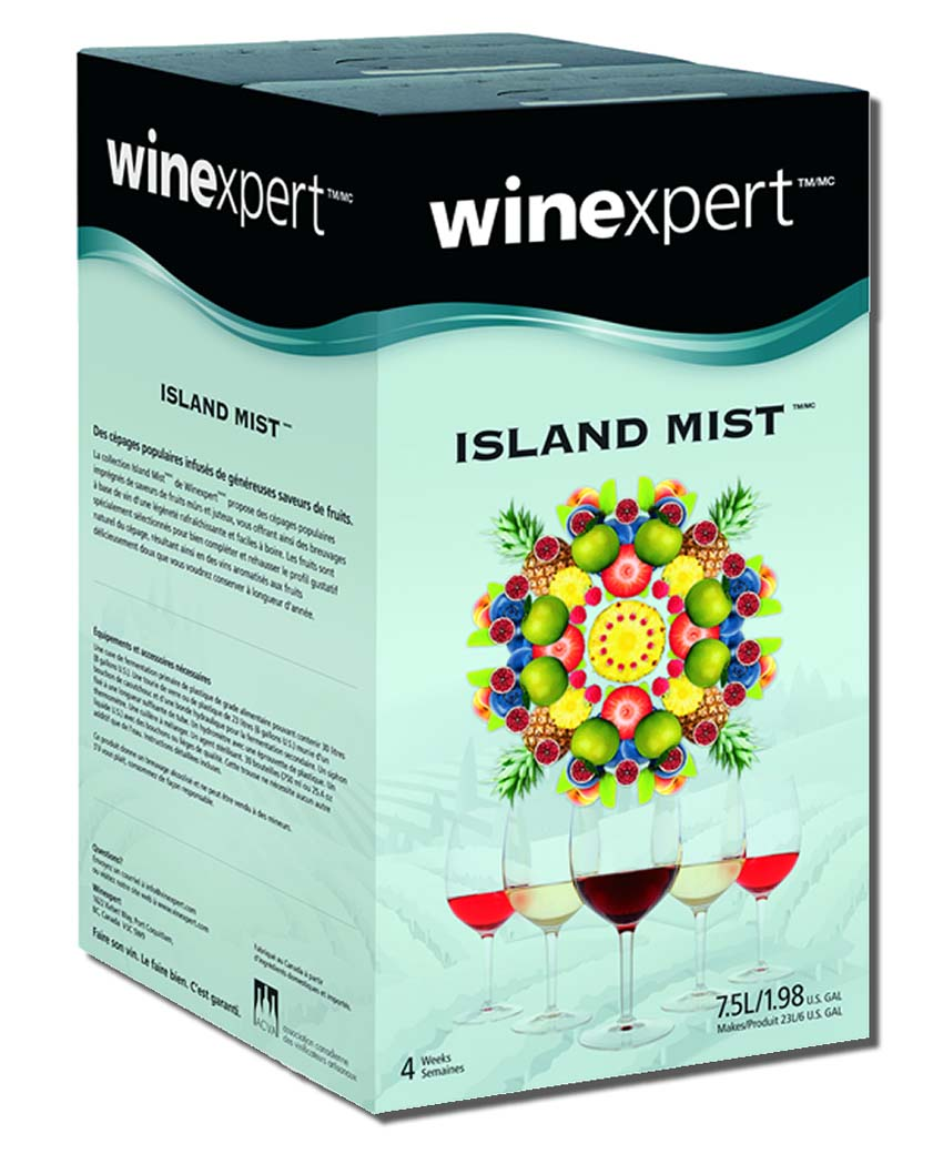 Island Mist Exotic Fruits White Zinfandel Wine Ingredient Kit