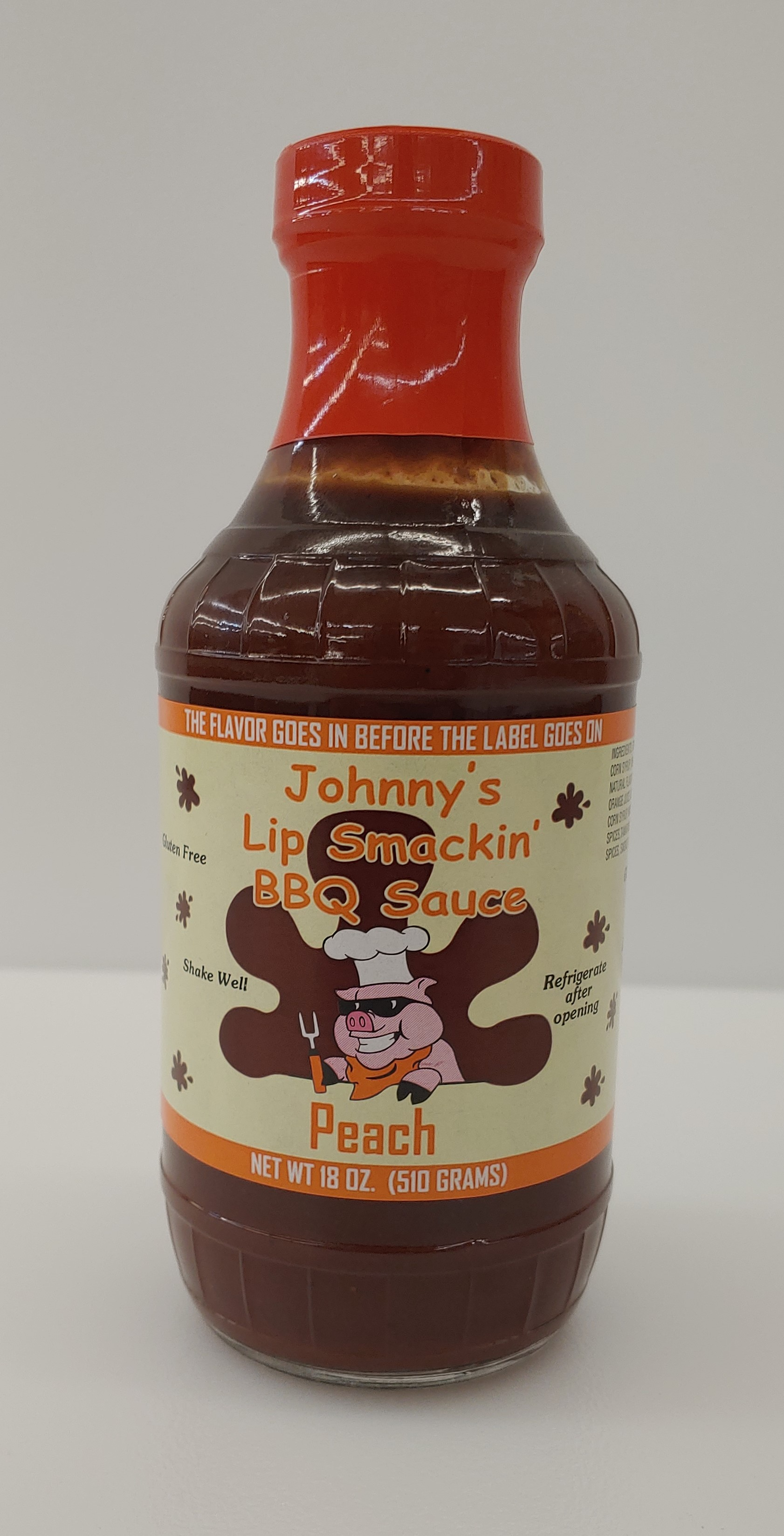 Johnny's Lip Smackin Peach BBQ Sauce 18 Ounce THUMBNAIL