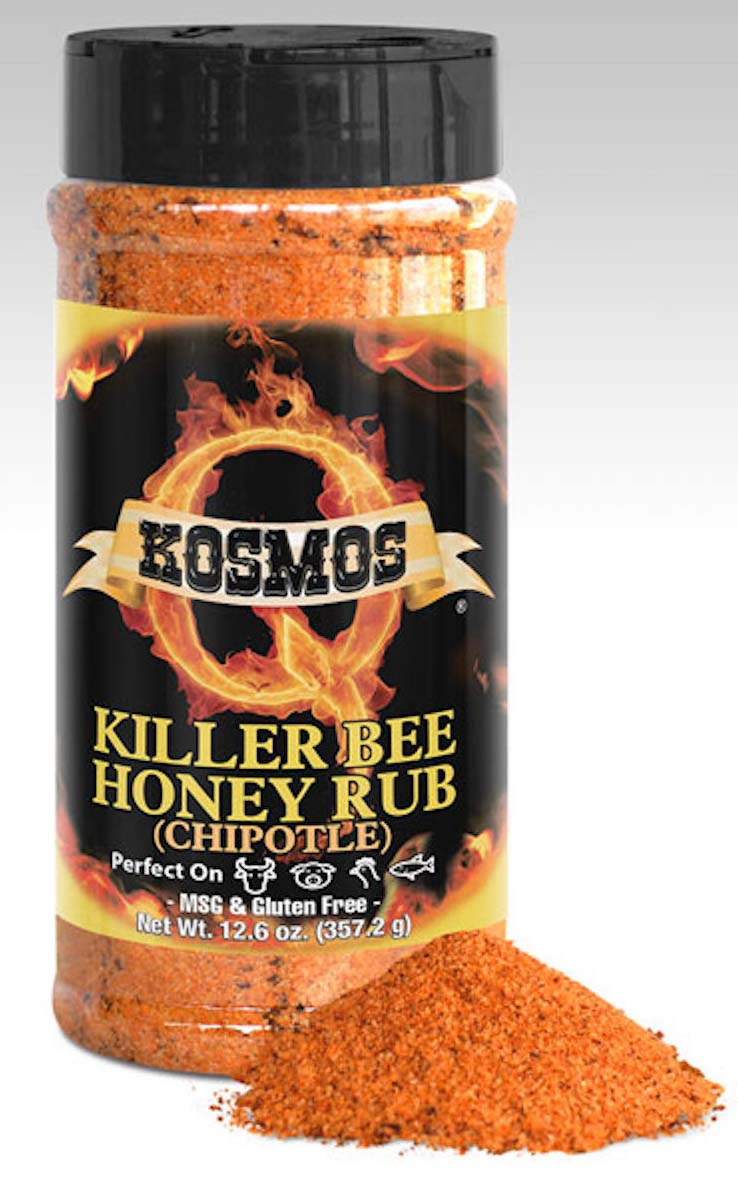 Kosmos Q Spicy Killer Bee Chipolte Honey Rub LARGE