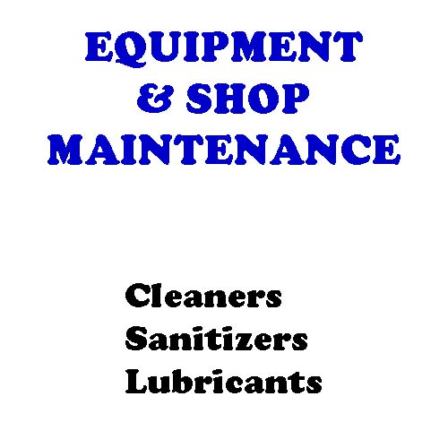 Equipment, Plant, Shop Maintenance