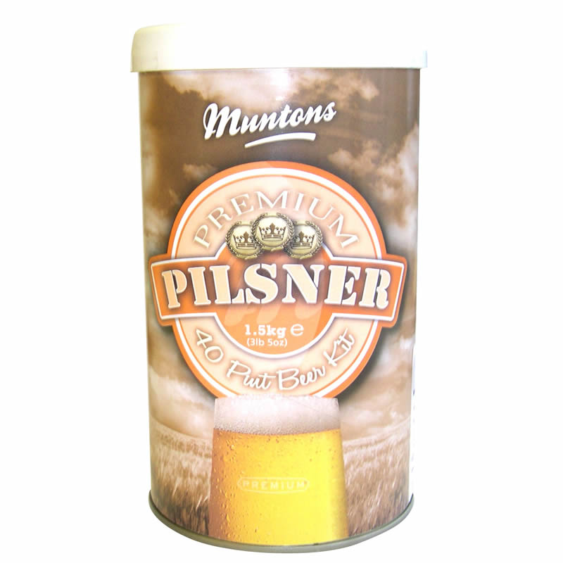 Muntons Liquid Malt Extract Kit, Premium Pilsner