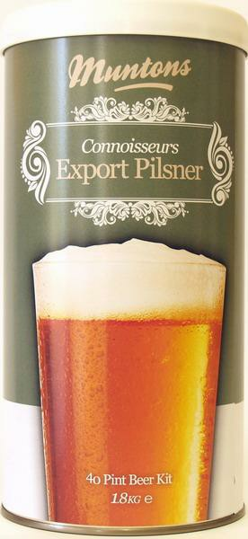 Muntons Liquid Malt Extract Kit, Connoissuer Export Pilsner THUMBNAIL