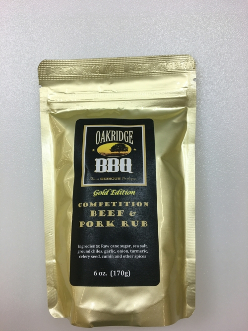Oakridge BBQ Competition Beef & Pork Rub 6oz LARGE