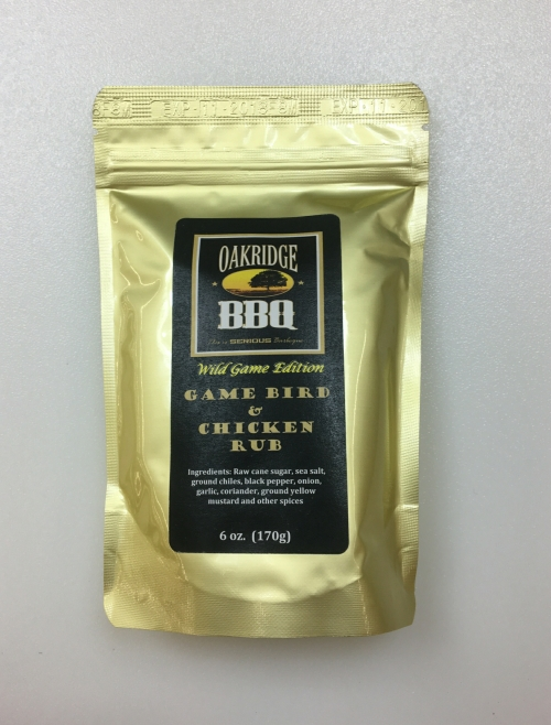 Oakridge BBQ Game Bird & Chicken Rub 6oz LARGE