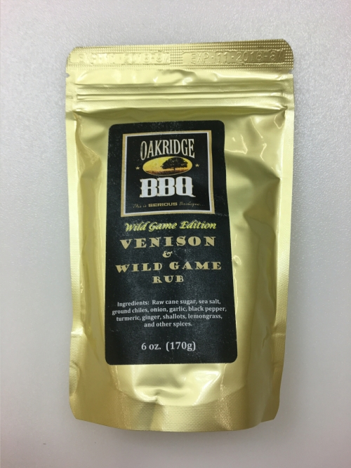 Oakridge BBQ Venison & Wild Game Rub 6oz LARGE