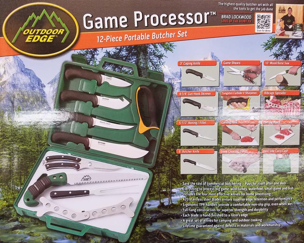Outdoor Edge 12 Piece Game Processor Field Kit LARGE