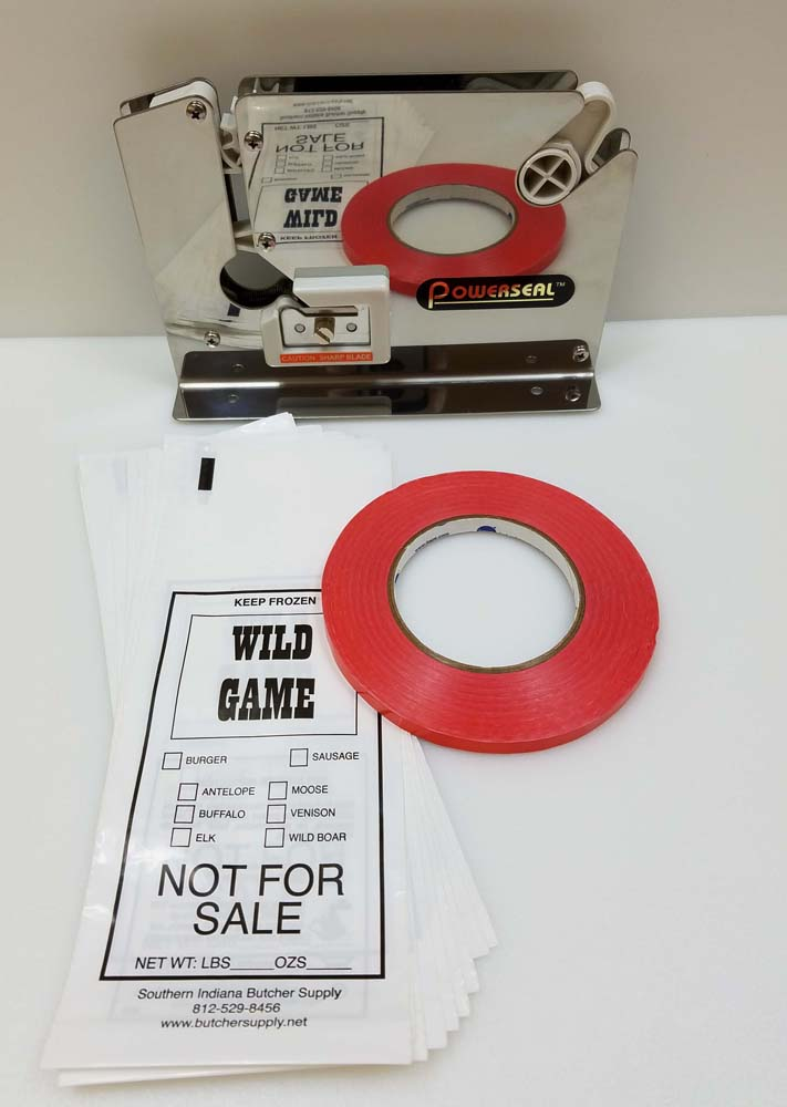 Wild Game Ground Meat and Sausage Packing Kit LARGE
