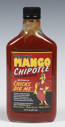Pappys Mango Chipotle - Chicks Dig Me BBQ Sauce 375 ML