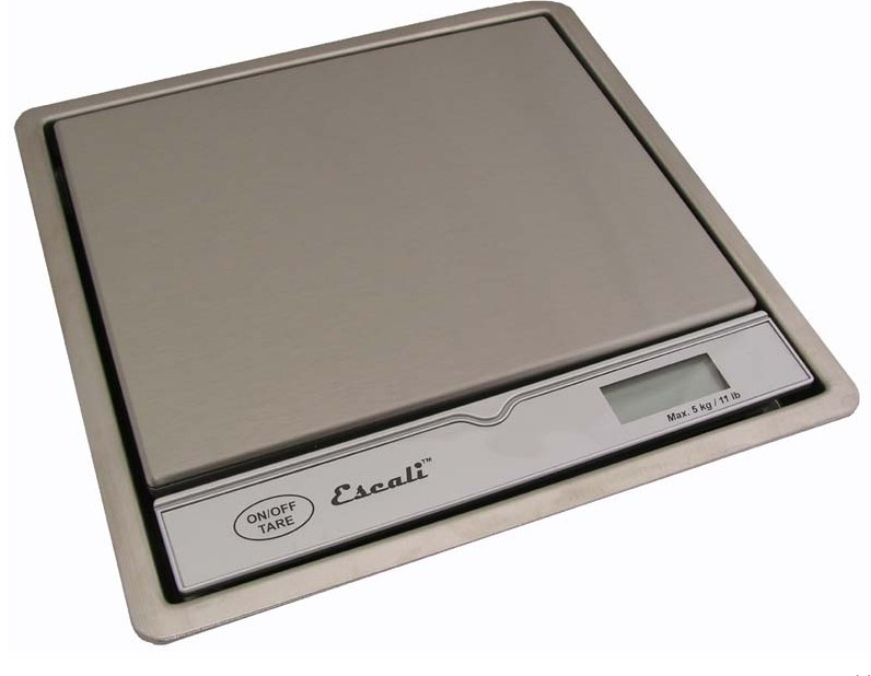 Escali 115B Pronto Surface Mountable Scale 11 Lb