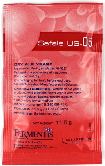 Safale S-05 Dry Ale Yeast 11.5 Grams