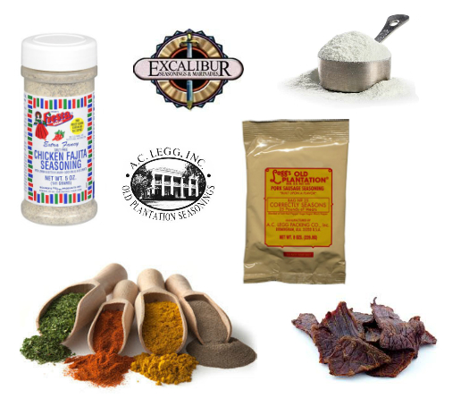 Meat Processing, BBQ, Grill & Kitchen Seasonings, And Sauces