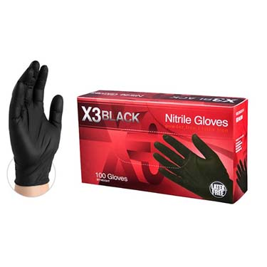 X3 Nitrile Disposable Gloves LARGE