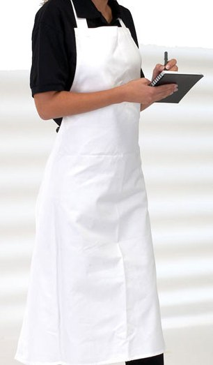 "Cotton Butcher's Apron 30"" X 35"" With Pocket"