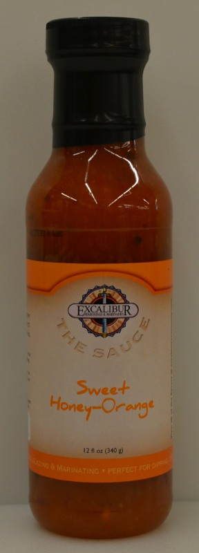 "Excalibur ""The Sauce"" Sweet Honey-Orange Glaze 12 Ounce"