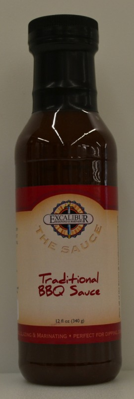"Excalibur ""The Sauce"" Traditional BBQ Sauce 12 Ounce"